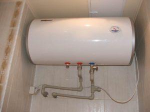Установка водонагревателя в ванной комнате